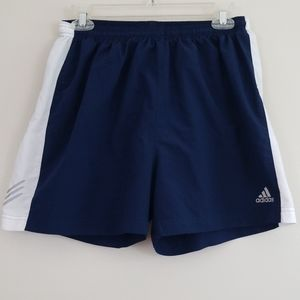 Adidas blue and white men's active shorts